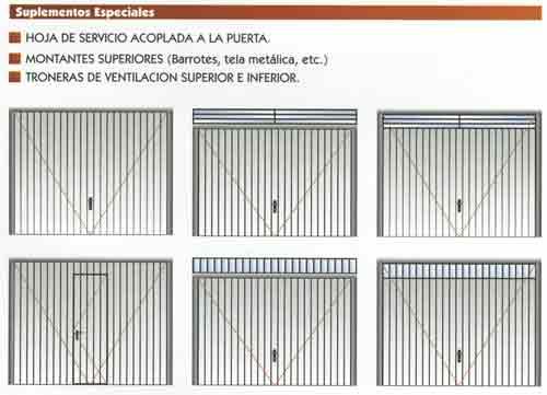 Puertas de garaje basculantes precios materiales de for Puertas de garaje precios